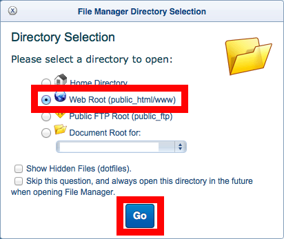 Accessing Your Files through the File Manager |